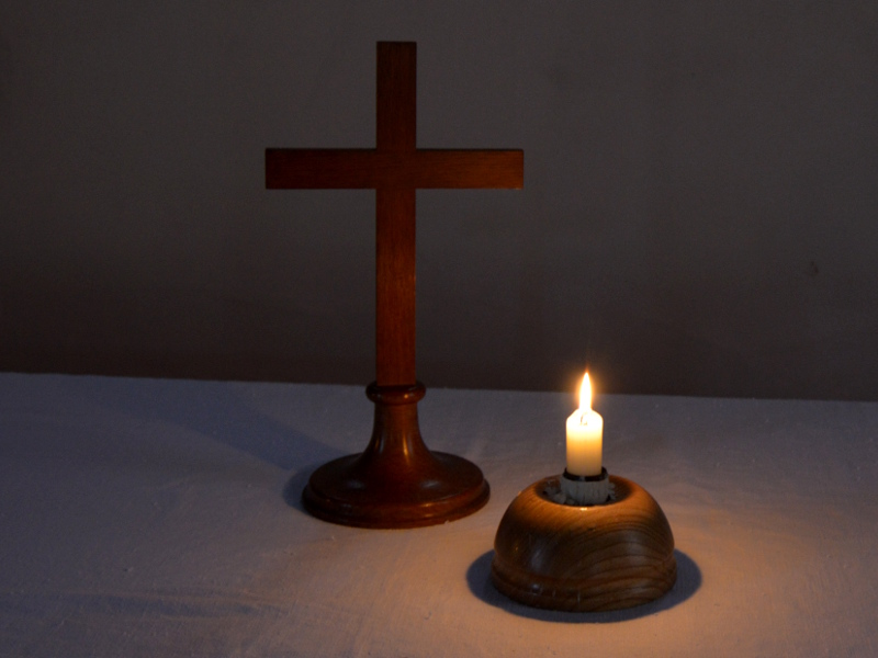 Candle and Cross